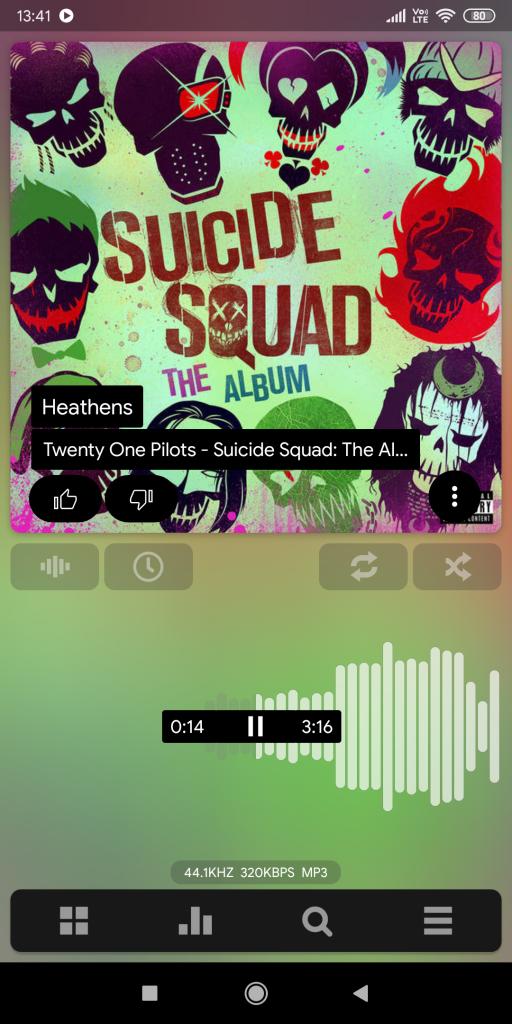 Music App Homescreen