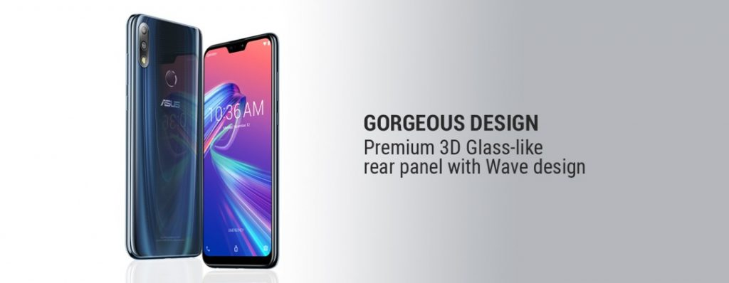 Image showing the design of Asus Zenfone Max Pro M2
