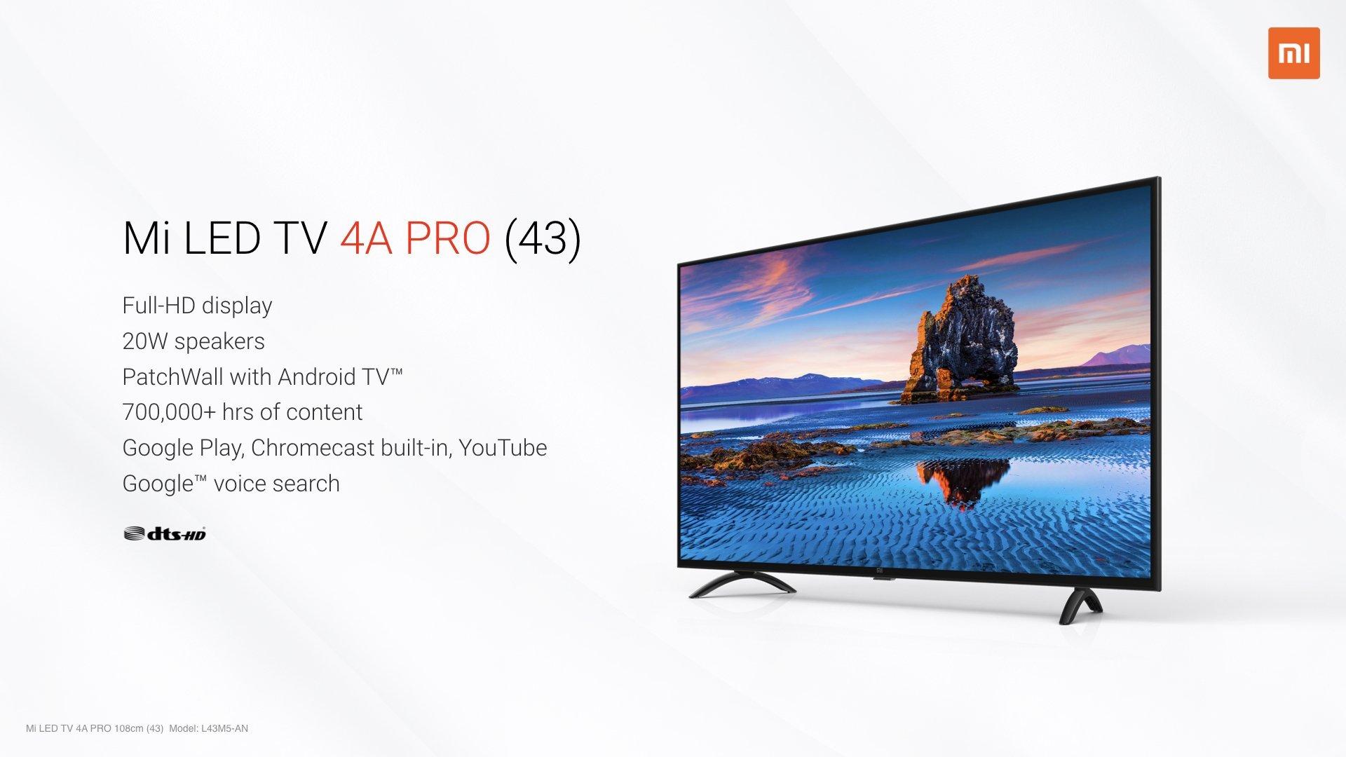 "Mi LED TV 4A Pro 43"""