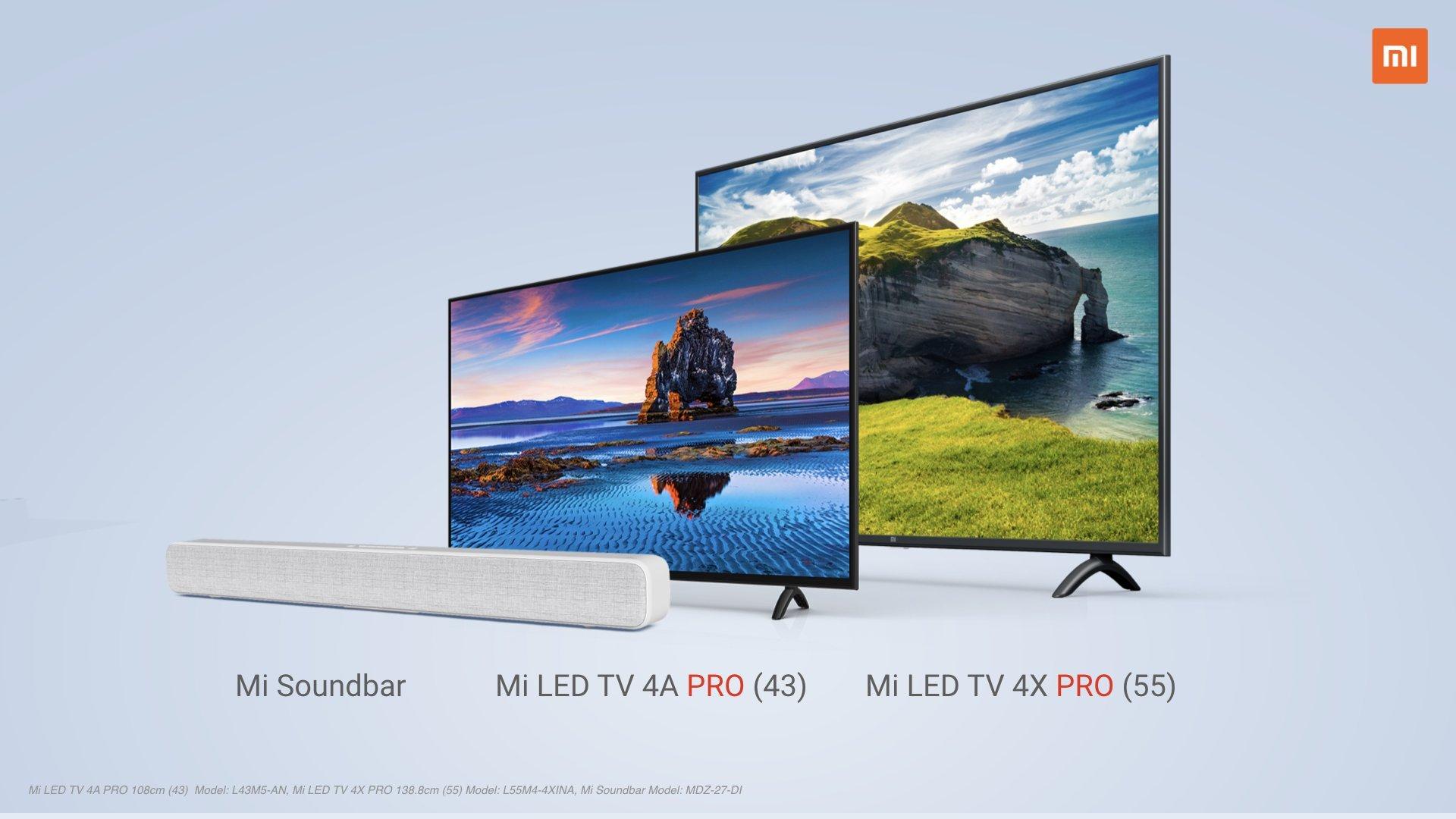 Mi TVs & Soundbar Launched