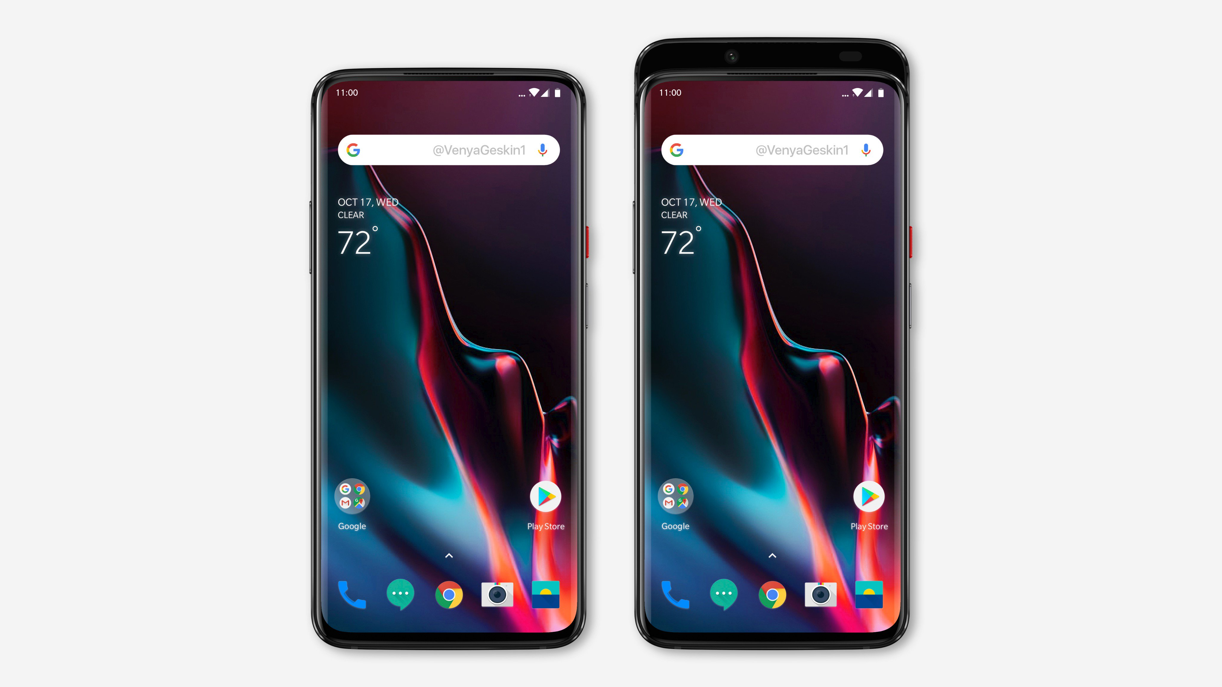 Image Showing the Render of OnePlus 7 based on the leaked image.