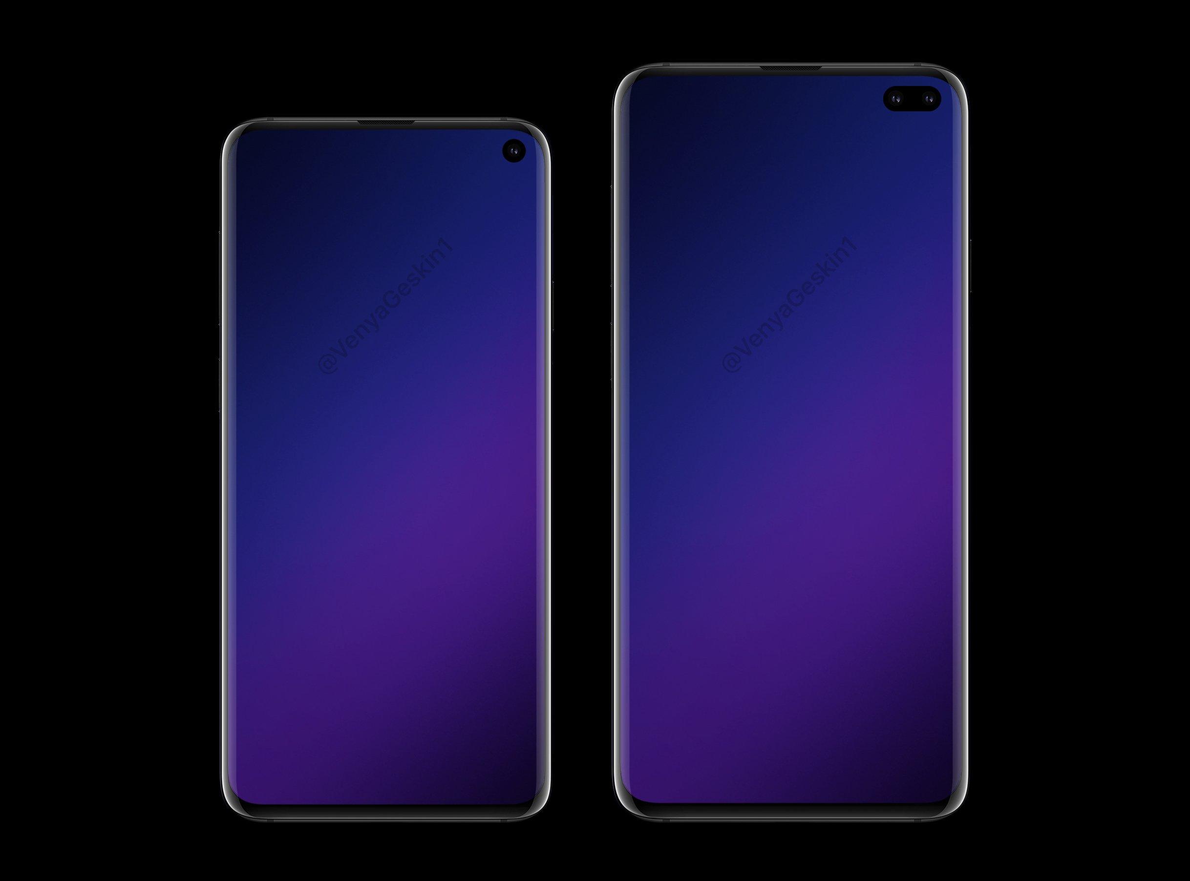 Samsung Galaxy S10 & 10+ Render_2 Source: @VenyaGeskin1/Twitter