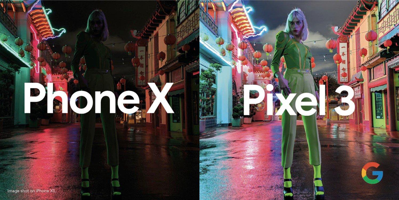 Apple iPhone XS vs Google Pixel 3 Night Sight Mode camera comparison