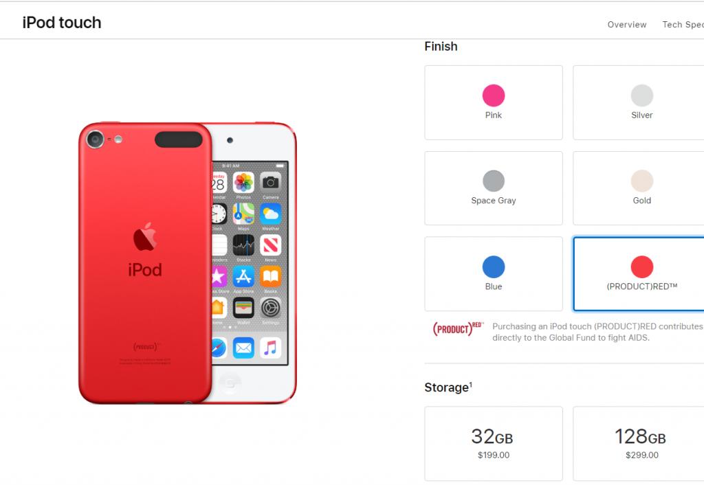 Prices of Apple iPod