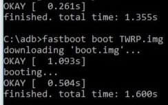 Booting the recovery file