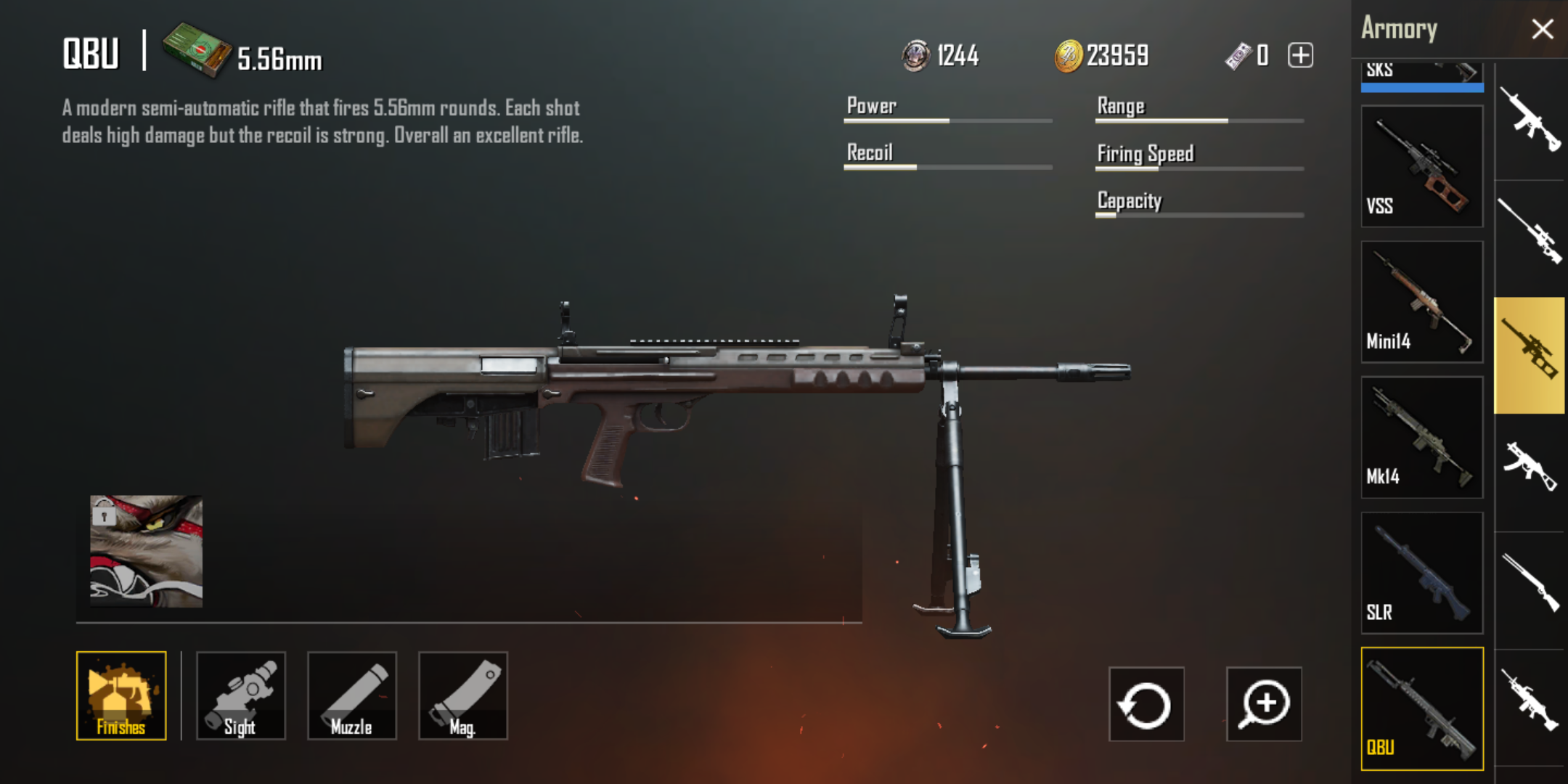 Image Showing QBU a new DMR added to PUBG Mobile