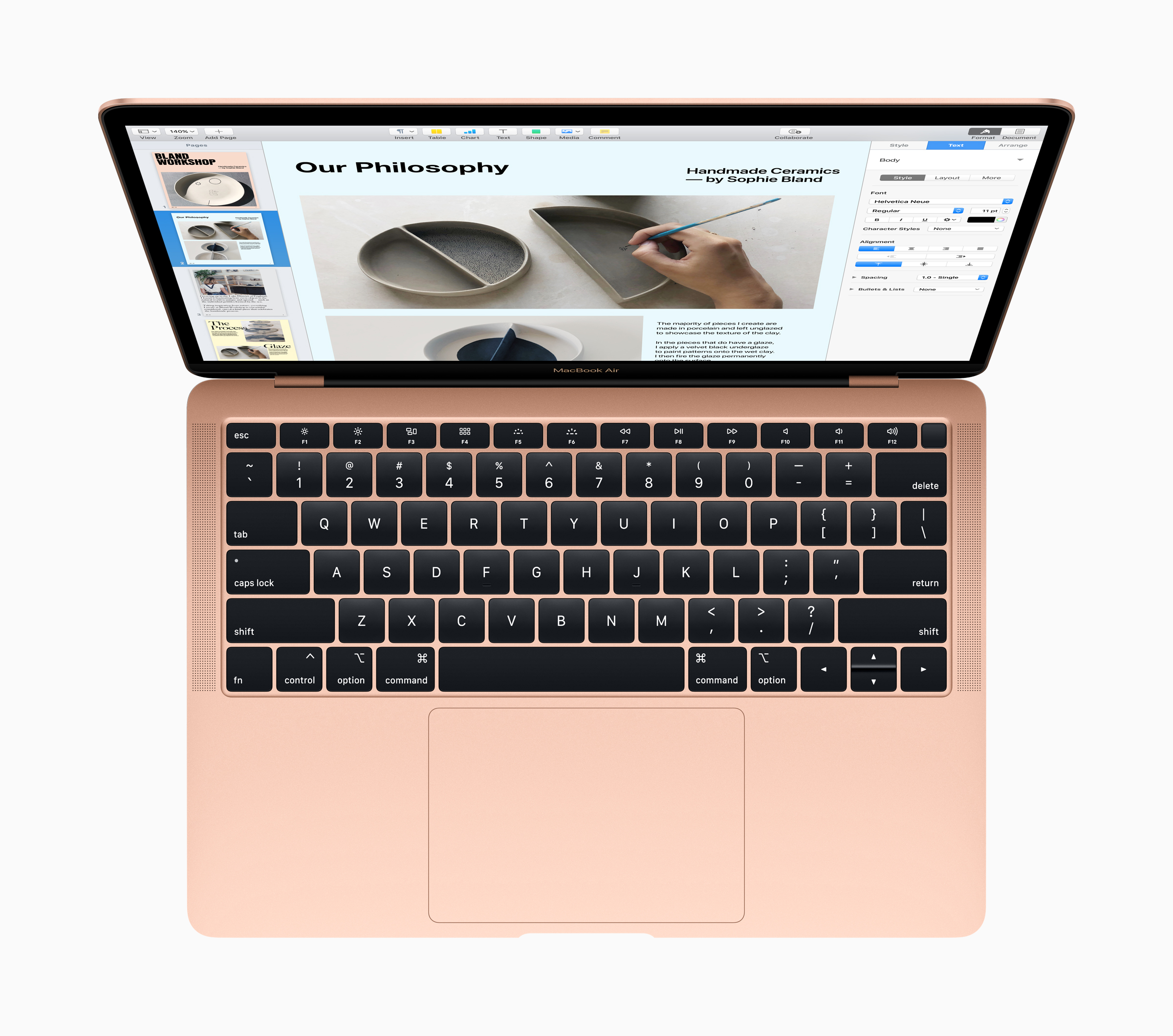 Image showing Apple MacBook Air 2018 in Gold Color