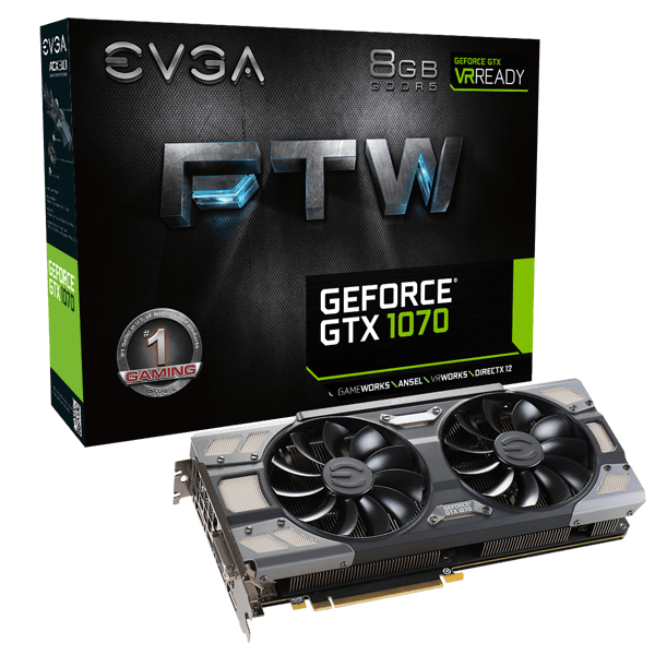 Image Showing GeForce GTX 1070 FTW Graphics Card