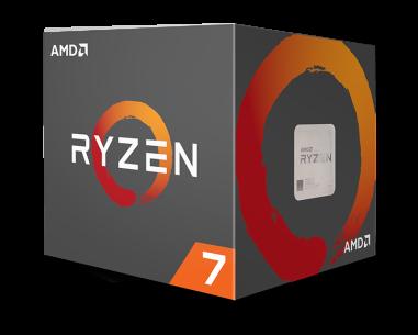 Image Showing box of AMD Ryzen 1700x Unlocked Processor ©amd
