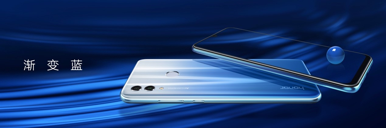 Image showing the Honor 10 Lite in Blue and White Gradient